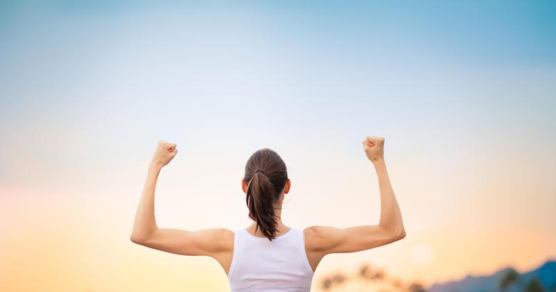 fit en sterke vrouw